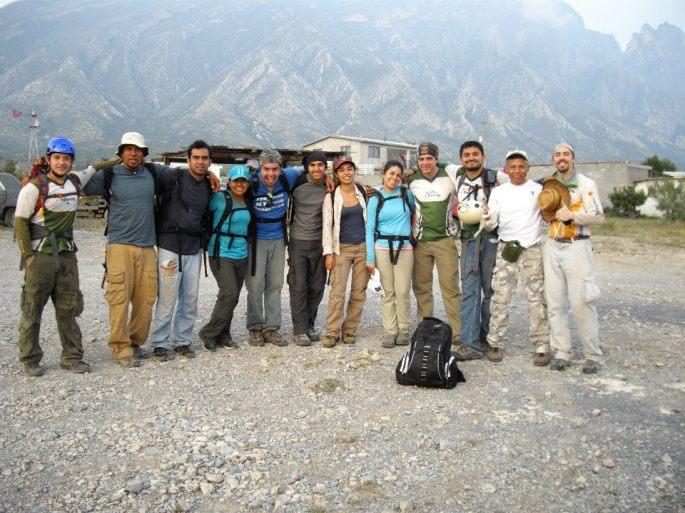 Grupo completo terminando el recorrido